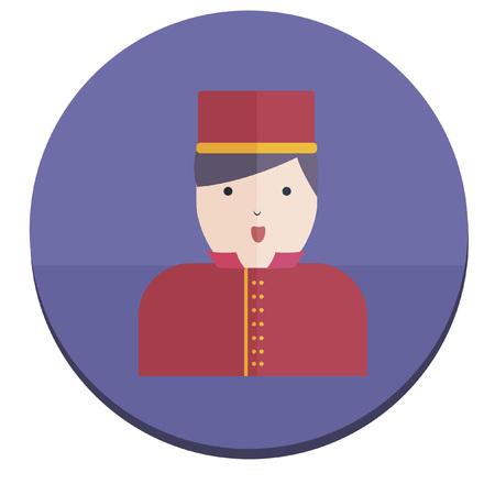 bellboy: Illustration of a bellboy Illustration
