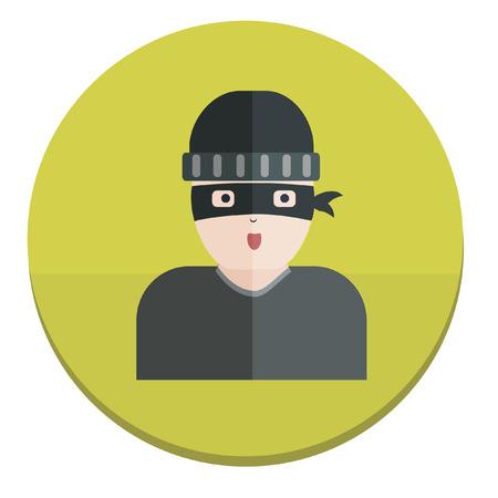 Illustration of a burglar