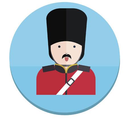 Illustration of a London guard