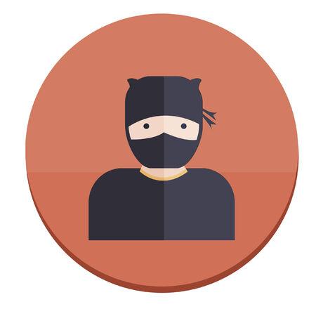 Illustration of a ninja Vector