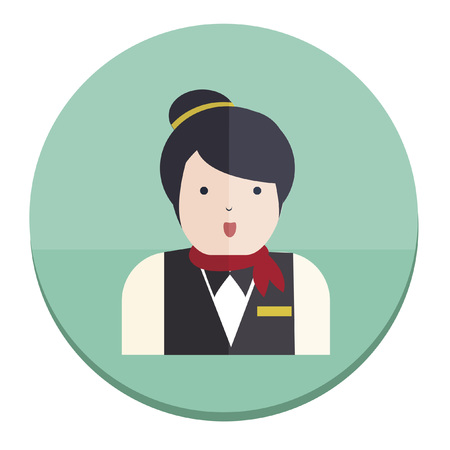 Illustration of a hotel receptionist
