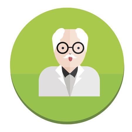 Illustration of a scientist