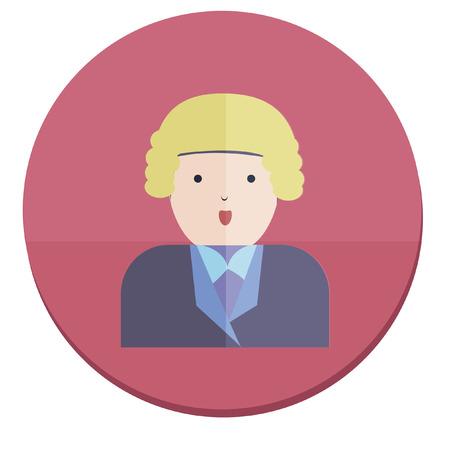 wig: Illustration of a judge