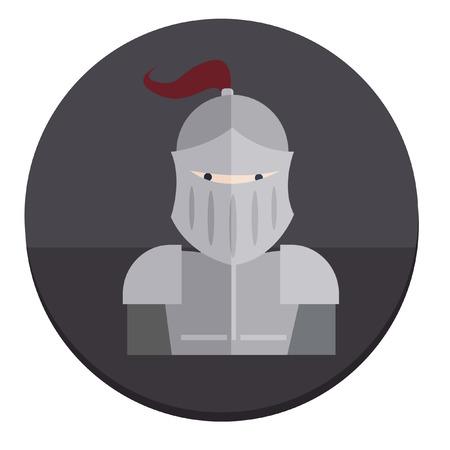 Illustration of a knight Vector