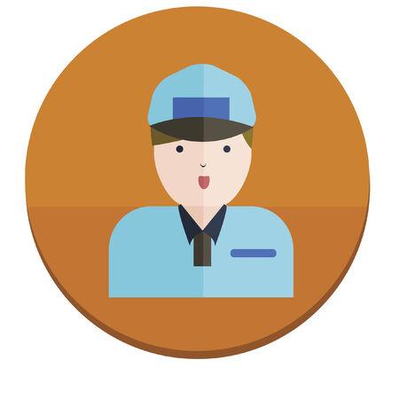 deliveryman: Illustrazione di un fattorino Vettoriali