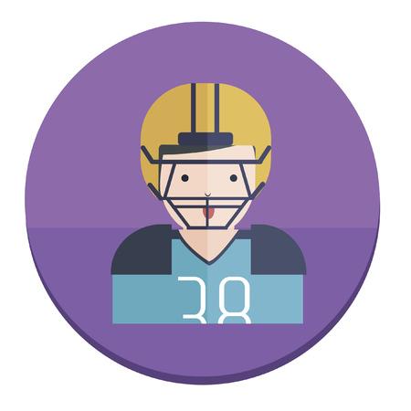 Illustration of an American football player Ilustração