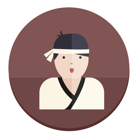 martial art: Illustration of a martial art instructor Illustration