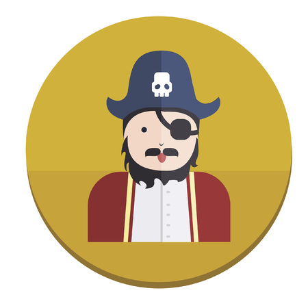 Illustration of a pirate Vector
