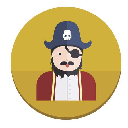 Illustration of a pirate Illusztráció