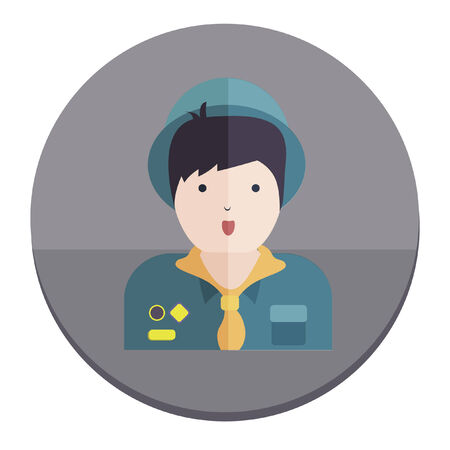 Illustration of a boy scout