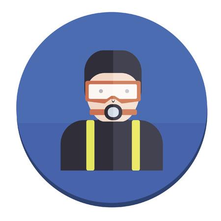 Illustration of a diver