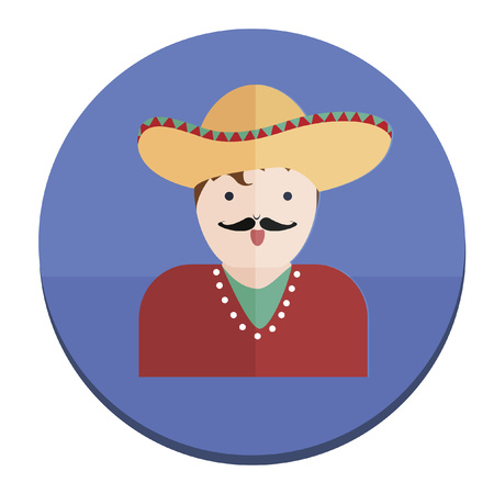 Illustration of a Mexican cowboy Vector