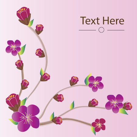 Cherry blossom background with text space