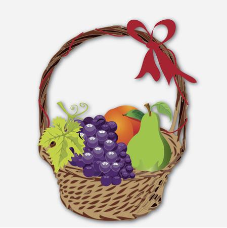 新鮮な果物のバスケット