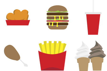 Collection of fast food
