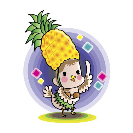 Illustratie van een cartoon karakter dansen Stock Illustratie