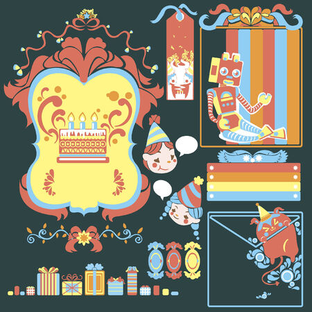 Illustration for banners, wrappers and cards Vector
