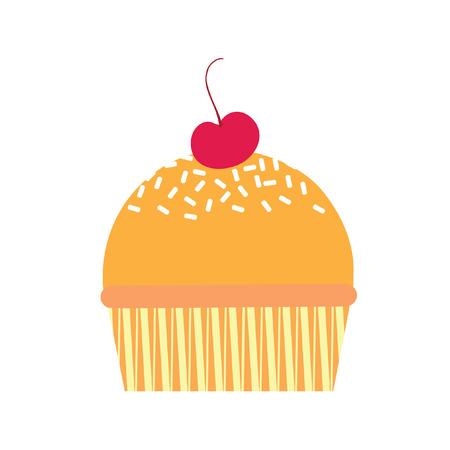 cupcake illustration: Illustration of a cupcake
