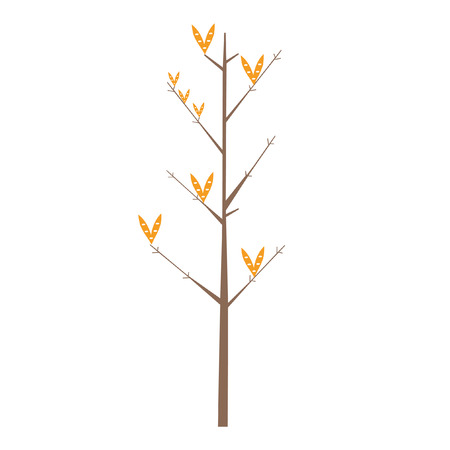 Illustratie van een boom met hartvormige bladeren Stock Illustratie