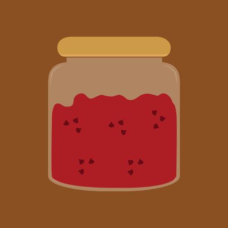 Illustration of jam in a jar