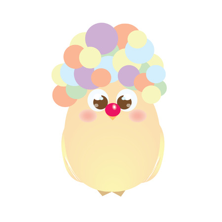 A chick with a colourful hair
