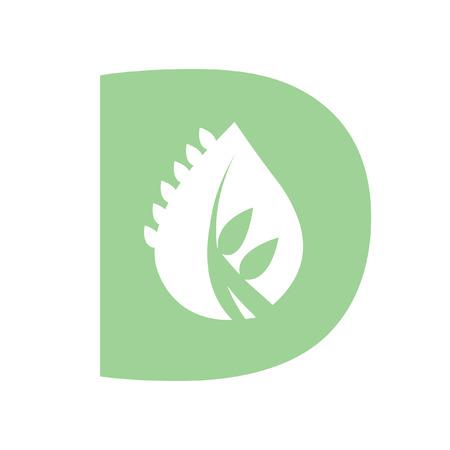 Illustratie van de letter D Stock Illustratie