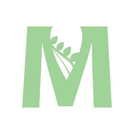 Illustration of letter M