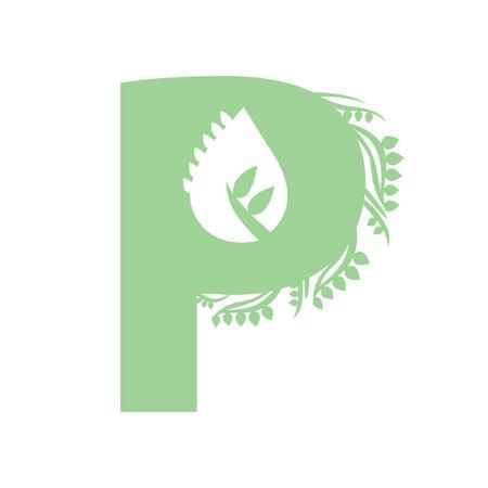Illustration of letter P Ilustração