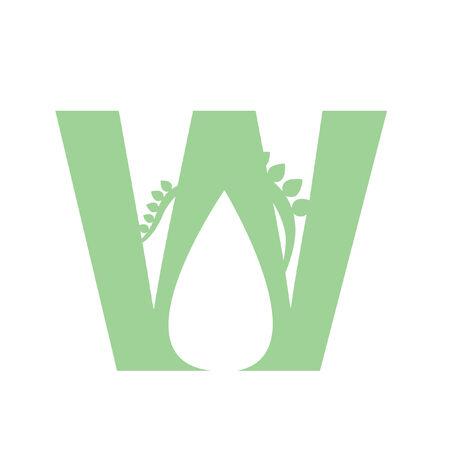 Illustration of letter W