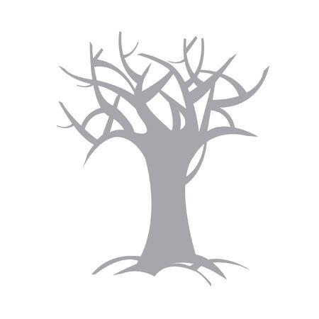 Illustratie van een kale boom