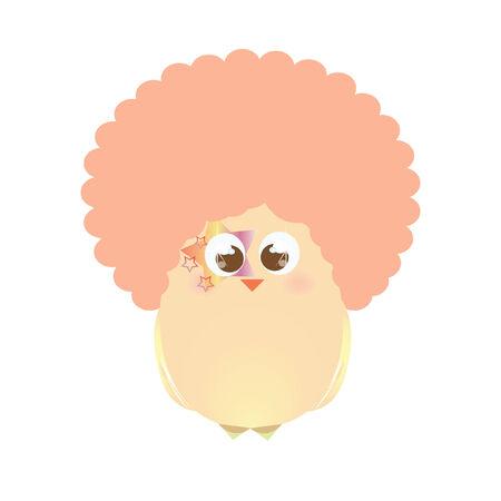 A chick wearing an afro Banco de Imagens - 31162214