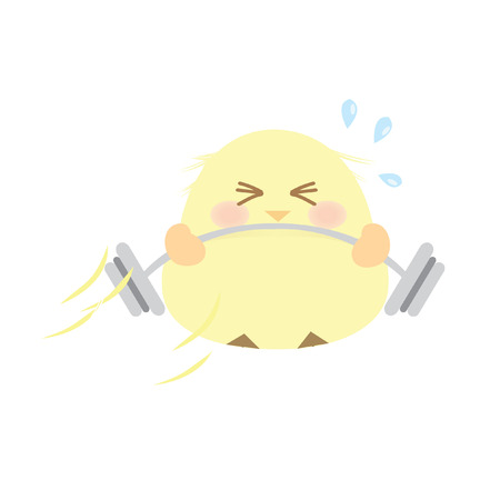 chick: A chick lifting weights