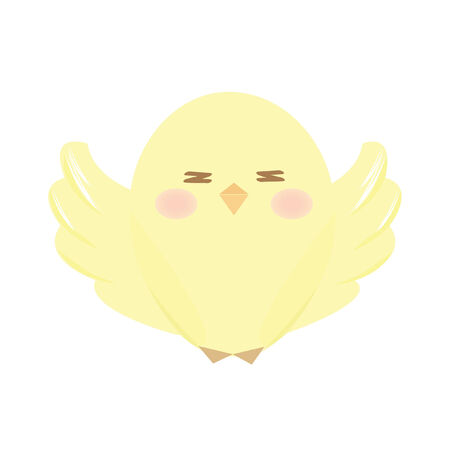 A chick spreading wings Illustration