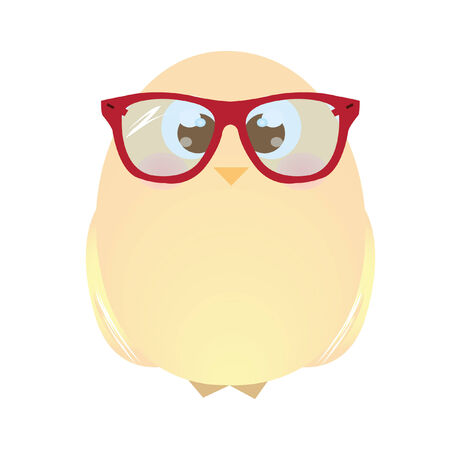chick: A chick wearing glasses