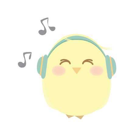 A chick listening to music