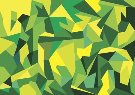 yellows: Geometric greens and yellows