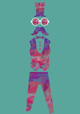 Stylish man in colorful attire Vector