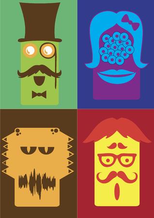 Weird monsters Иллюстрация