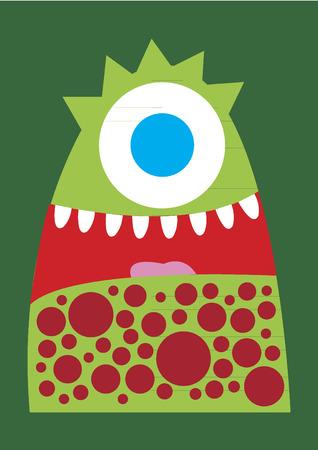 eyes wide open: Weird monster Illustration