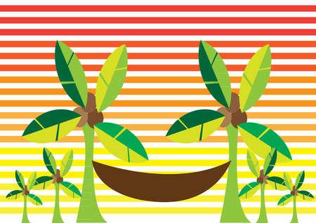 Hammock and palm trees