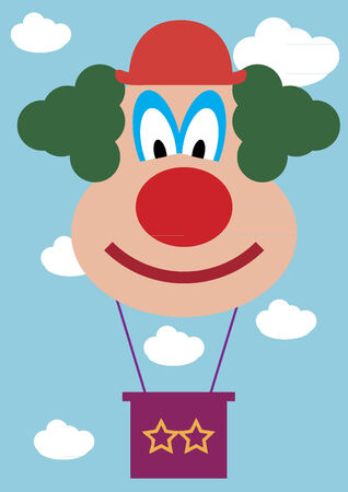 floating: Clown hot air balloon