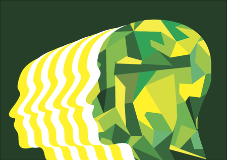 Shape of a man's head from the side Ilustração