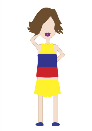 Vector of a woman in sports attire Illusztráció
