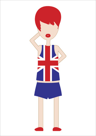 sports attire: Vector of a woman in sports attire Illustration