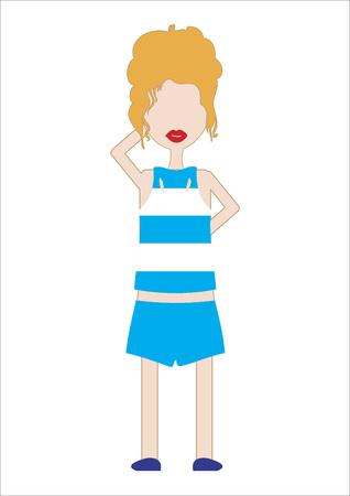 unrecognizable person: Vector of a woman in sports attire Illustration