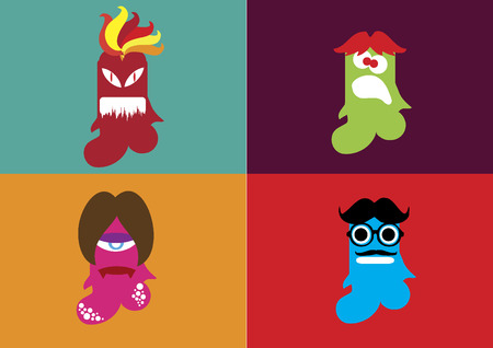 shaped: Weird shaped monsters Illustration
