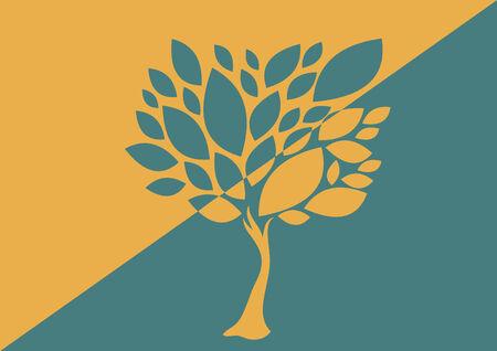 Tree abstract design 向量圖像