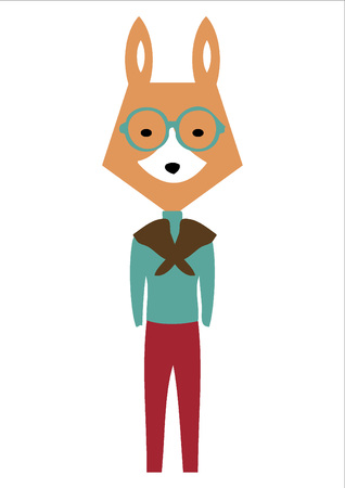 sly: Fox with glasses