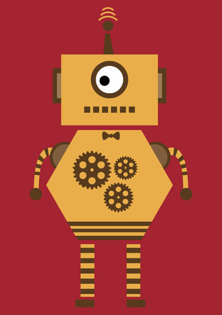 Orange robot Vector