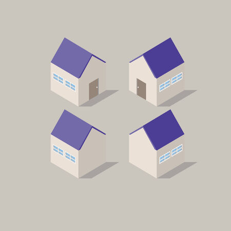 Houses  イラスト・ベクター素材